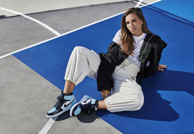Tobin Heath Shows Off The Air Jordan 1 OG 'Blue Chill'