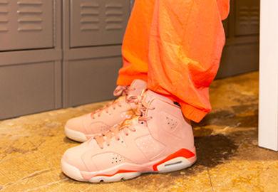 App Release: The Aleali May x Air Jordan Retro 6 'Millennial Pink'