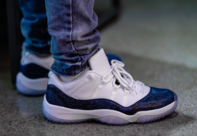 6db8bc9539bb The Air Jordan Retro 11 Low  Navy Snakeskin  Makes Its Return In Time For