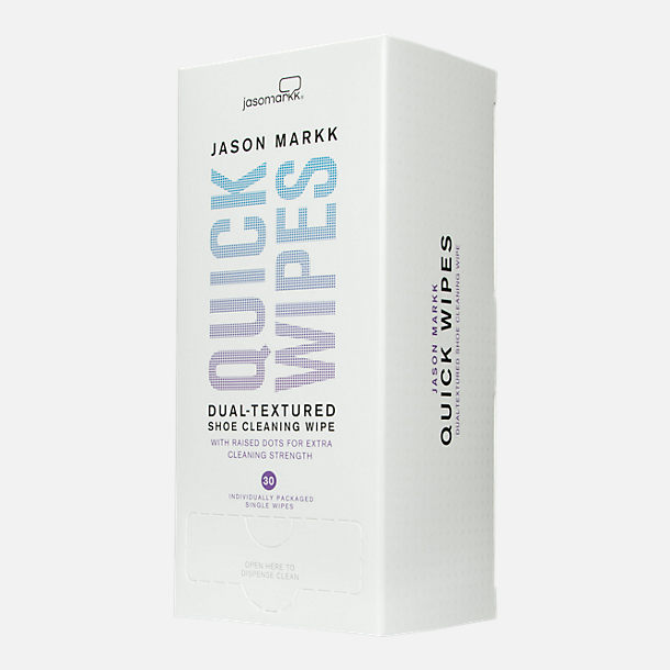 Front view of Jason Markk Premium Shoe Cleaner Quick Wipes - 30 Pack in NON