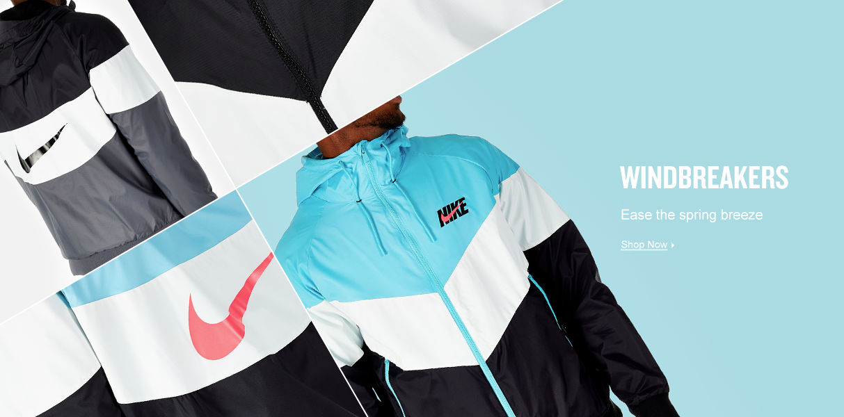 Windbreakers. Block the breeze. Shop Now.