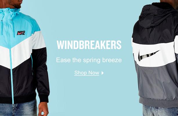 Windbreakers. Block the breeze. Shop Now.