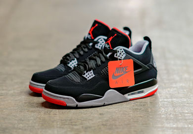detailed look 3877c 0591d The Air Jordan Retro 4  Bred  Returns In True Form For The 30th Anniversary