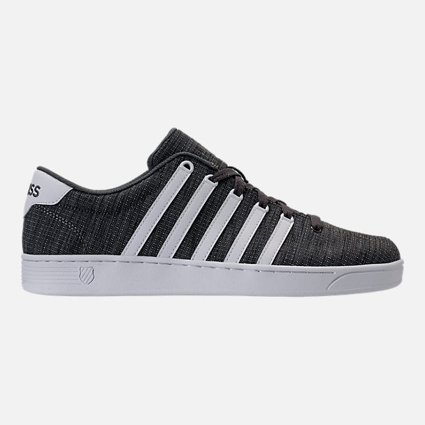 Right view of Men's K-Swiss Court Pro II T CMF Casual Shoes in Grey Heather/White