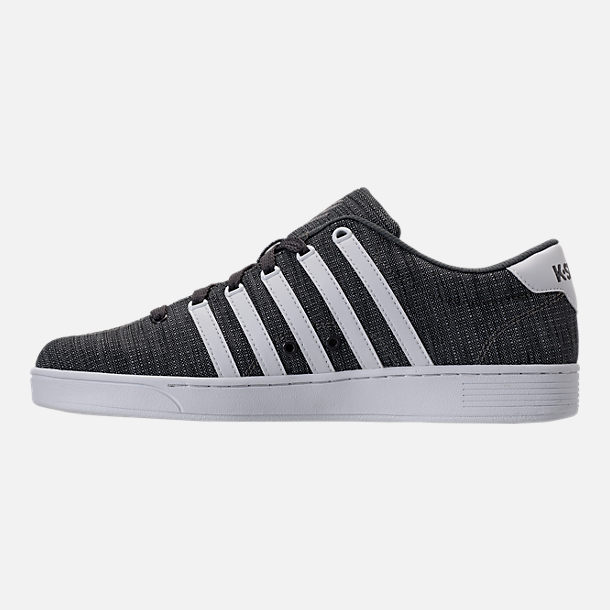 Left view of Men's K-Swiss Court Pro II T CMF Casual Shoes in Grey Heather/White