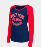 Women's Stadium Mississippi Rebels College Long-Sleeve Healy Raglan T-Shirt