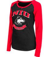 Women's Stadium Northern Illinois Huskies College Long-Sleeve Healy Raglan T-Shirt