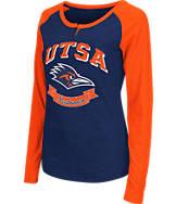 Women's Stadium Texas- San Antonio Roadrunners College Long-Sleeve Healy Raglan T-Shirt