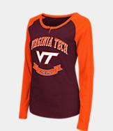 Women's Stadium Virginia Tech Hokies College Long-Sleeve Healy Raglan T-Shirt