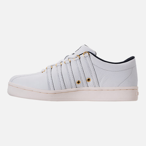 Left view of Men's K-Swiss Classic 88 x Carrots Casual Shoes in White/Black