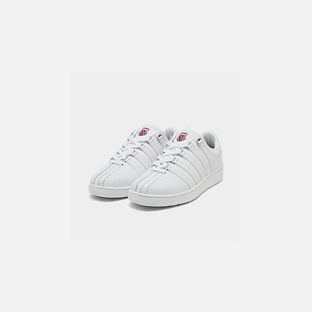 Three Quarter view of Men's K-Swiss Classic VN Casual Shoes in White