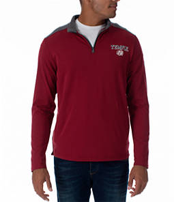 Men's Under Armour Temple Owls College Charged Cotton Quarter-Zip Jacket