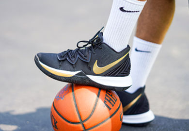 Just in Time for the NBA Finals, Nike Kyrie 5 'Black/Gold'