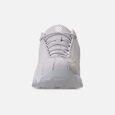 Front view of Men's K-Swiss ST329 Casual Shoes in Triple White