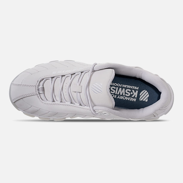 Top view of Men's K-Swiss ST329 Casual Shoes in Triple White