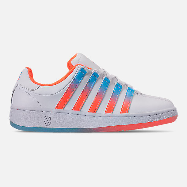 Right view of Men's K-Swiss Classic VN Tonal Casual Shoes in White/Aquarious/Neon Blaze