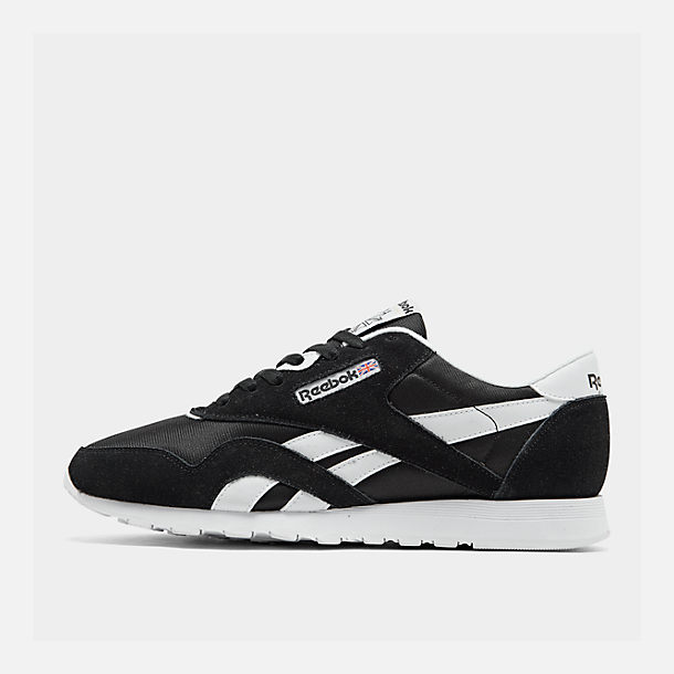 1af5e5a18af Right view of Men s Reebok Classic Nylon Casual Shoes in Black White