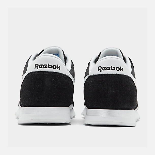 de92d2ae627 Left view of Men s Reebok Classic Nylon Casual Shoes in Black White