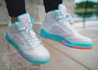 The Kid's Air Jordan Retro 5 Is Fresh for Summer In Light Aqua