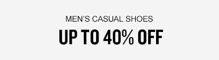 Men's Casual Shoes up to 40% Off