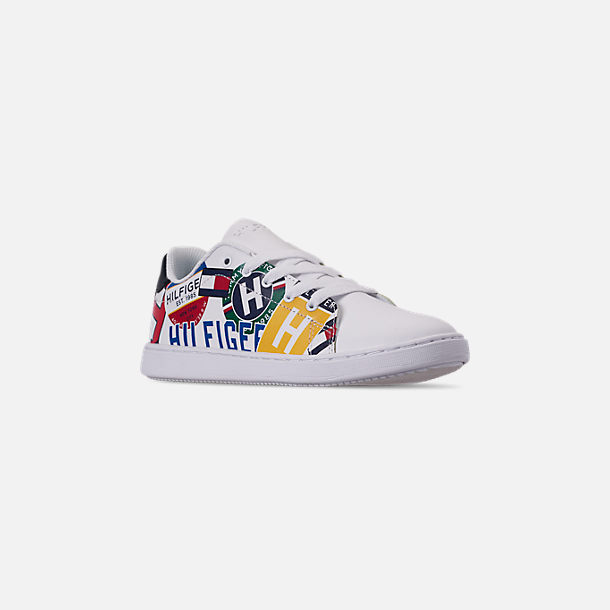7e2ae8da Three Quarter view of Boys' Big Kids' Tommy Hilfiger Iconic Court Casual  Shoes in