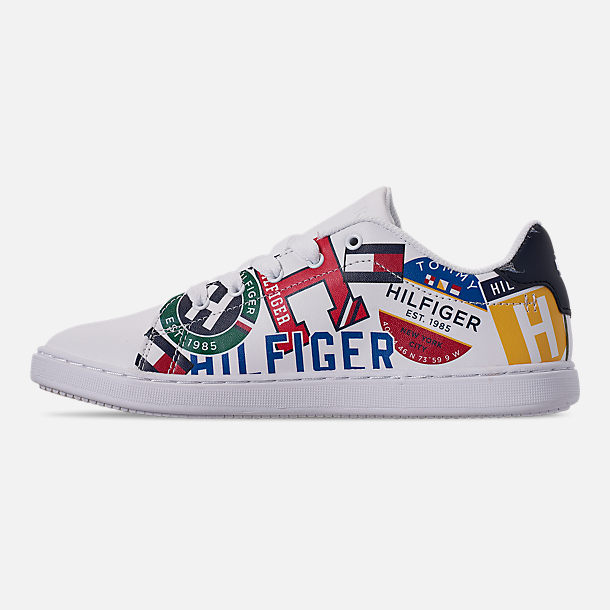 aafa1697 Left view of Boys' Big Kids' Tommy Hilfiger Iconic Court Casual Shoes in  Multi