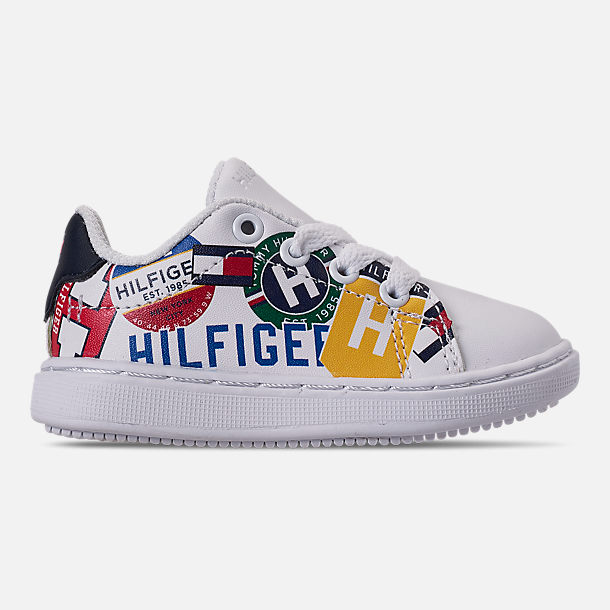 c1f676a6c Right view of Boys  Toddler Tommy Hilfiger Iconic Court Casual Shoes in  Multi Print