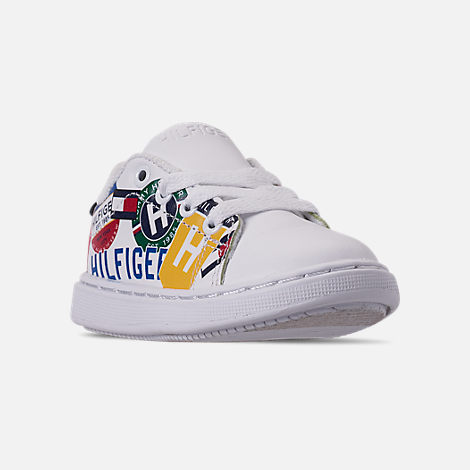 4e7992778 Three Quarter view of Boys  Toddler Tommy Hilfiger Iconic Court Casual Shoes  in Multi Print