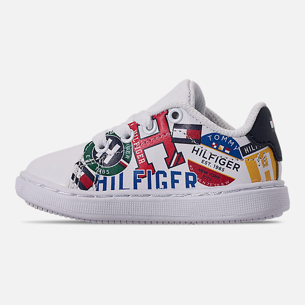 cf0d49cb Left view of Boys' Toddler Tommy Hilfiger Iconic Court Casual Shoes