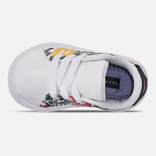 73152e181 Top view of Boys  Toddler Tommy Hilfiger Iconic Court Casual Shoes in Multi  Print