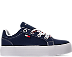 Navy Canvas/Sticker Print Lace