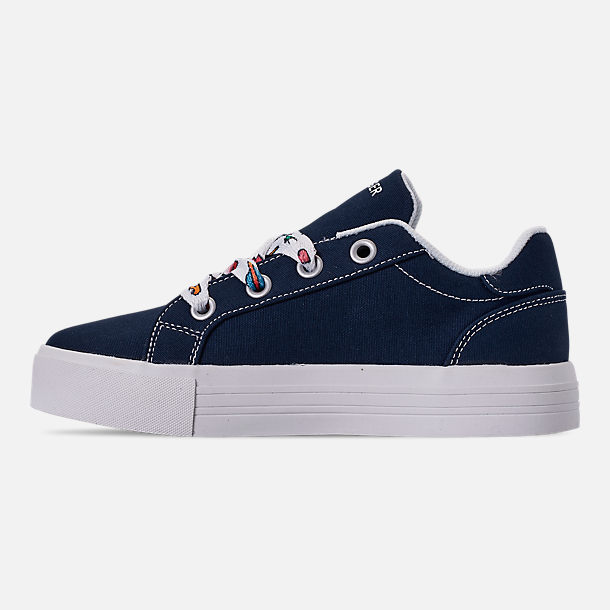 5c697e7289f Left view of Girls  Big Kids  Tommy Hilfiger Pina Platform Casual Shoe in  Navy