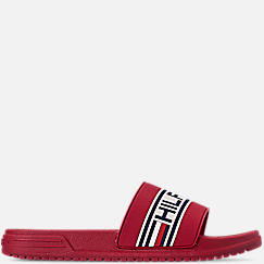Boys' Big Kids' Tommy Hilfiger Geo Logo Slide Sandals