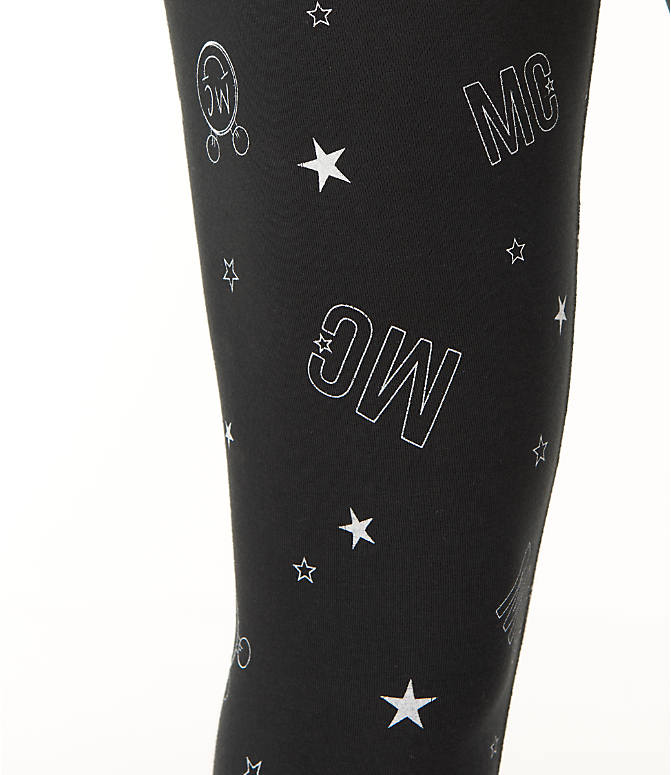Detail 2 view of Women's Converse x Miley Cyrus Allover Print Leggings in Black/Print