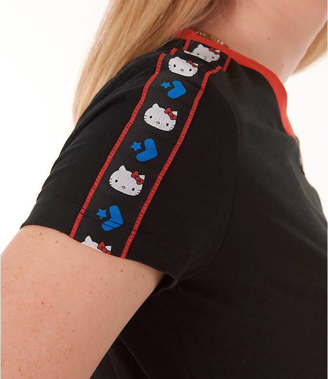 Detail 2 view of Women's Converse x Hello Kitty Tape T-Shirt in Black/Red