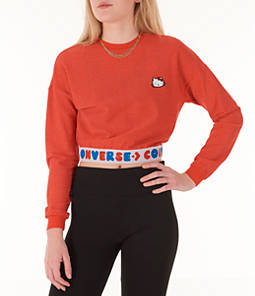 Women's Converse x Hello Kitty Long Sleeve Crop T-Shirt