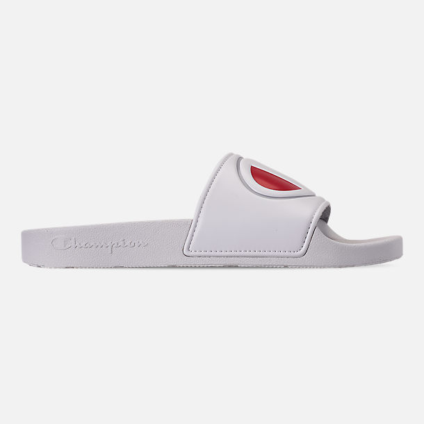 Right view of Women's Champion IPO Slide Sandals in White