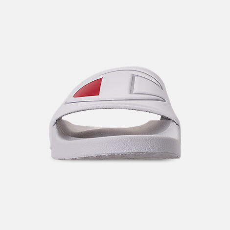Front view of Women's Champion IPO Slide Sandals in White