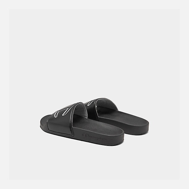 Left view of Women's Champion IPO Slide Sandals in Black
