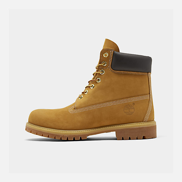 Right view of Men's Timberland 6 Inch Premium Classic Boots in Wheat