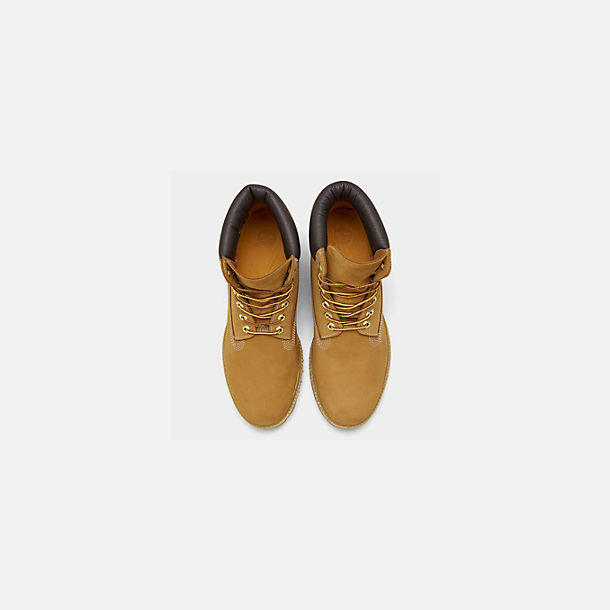 Back view of Men's Timberland 6 Inch Premium Classic Boots in Wheat