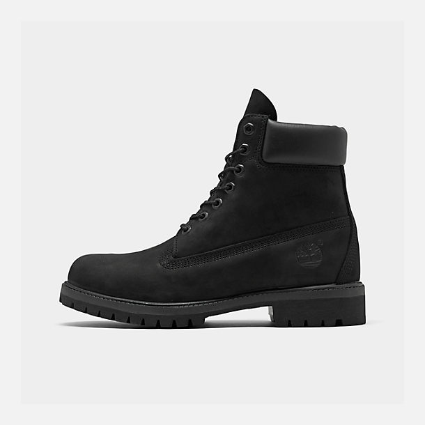 Right view of Men's Timberland 6 Inch Classic Boots in Black