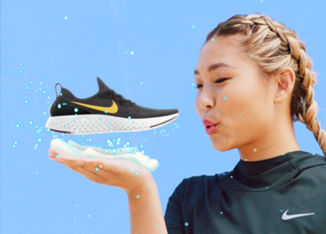 The Latest For Nike Epic React Flyknit: Ready. Set. Go Mode x Chloe Kim