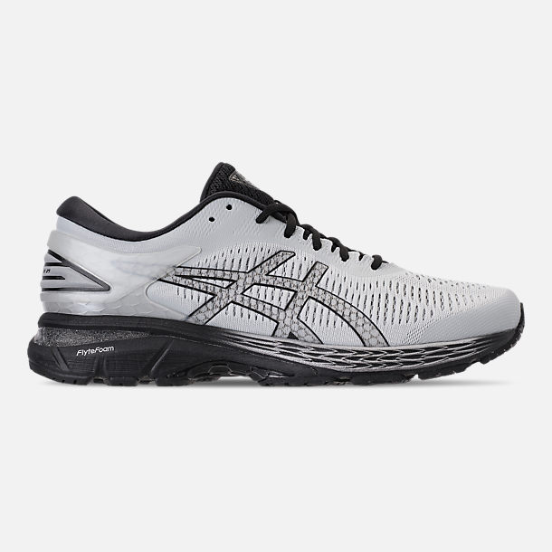 Right view of Men's Asics GEL-Kayano 25 Running Shoes in Glacier Grey/Black