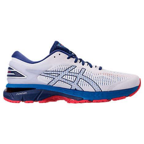 ASICS Men'S Gel-Kayano 25 Running Sneakers From Finish Line in White/Blue