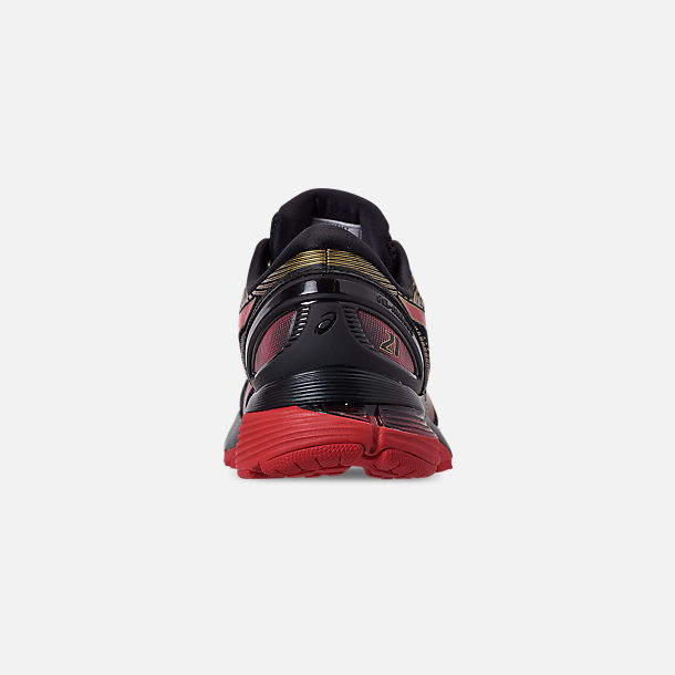e377fff51ac9 Back view of Men's Asics GEL-Nimbus 21 Running Shoes in Black/Classic Red