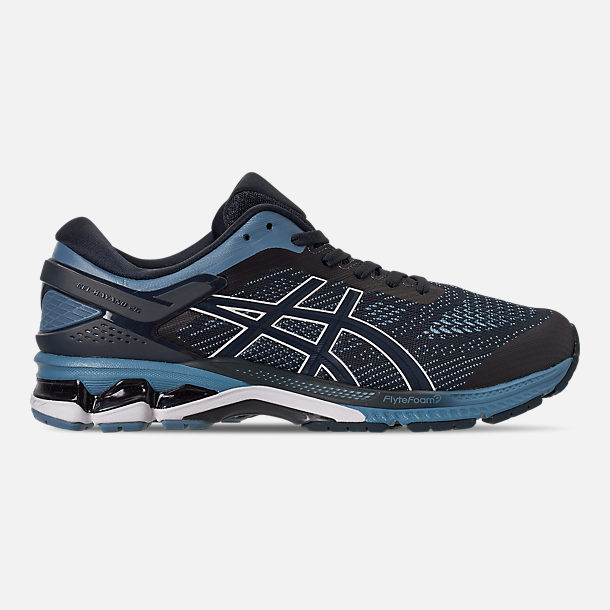Right view of Men's Asics GEL-Kayano 26 Running Shoes in Mako Blue/Sour Yuzu