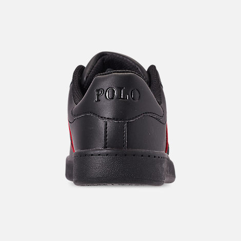 Back view of Boys' Little Kids' Polo Ralph Lauren Quilton Bear Casual Shoes in Black
