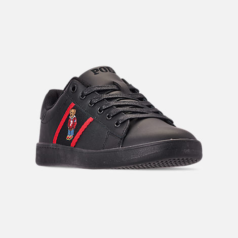 e83fa692bac Three Quarter view of Big Kids' Polo Ralph Lauren Quilton Bear Casual Shoes  in Black
