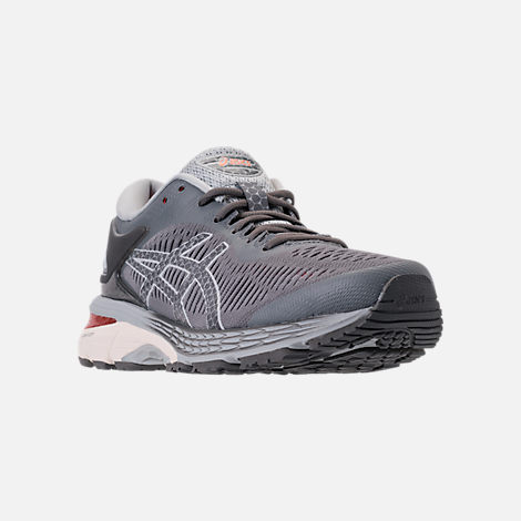 Three Quarter view of Women s Asics GEL-Kayano 25 Running Shoes in  Carbon Mid 3be9a707b6